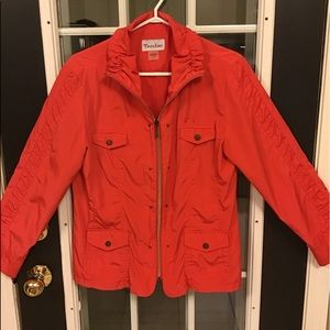 Ladies Orange Jacket Tan Jay Size 8